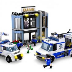 JOC CONSTRUCTIE PIESE TIP LEGO COMPATIBILE 100%, POLITIA SI SPARGATORII DE BANCI. - Set de constructie, Unisex