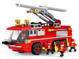 JOC CONSTRUCTIE DIN PIESE TIP LEGO COMPATIBILE 100%.AUTOSCARA DE POMPIERI,424pcs, Unisex