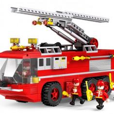 JOC CONSTRUCTIE DIN PIESE TIP LEGO COMPATIBILE 100%.AUTOSCARA DE POMPIERI, 424pcs - Set de constructie, Unisex