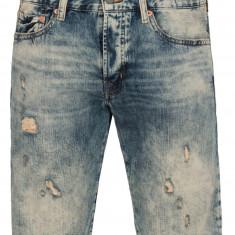 Pantaloni scurt blug Ralph Lauren SLIM-FIT OCEANSIDE talie 32 33 34 - Blugi barbati Polo By Ralph Lauren, Culoare: Albastru, Scurti