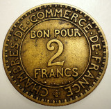 7.749 FRANTA 2 FRANCS FRANCI 1925, Europa, Bronz-Aluminiu