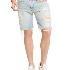 Pantaloni blugi scurti Ralph Lauren STRAIGHT-FIT FADED masura 31 32 - Blugi barbati Polo By Ralph Lauren, Culoare: Albastru, Drepti
