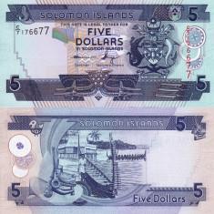 INSULELE SOLOMON 5 dollars ND (2012) UNC!!!