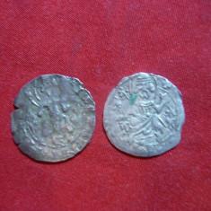 2 Monede Medievale emise de Tarul Vidinului Stratimir(1355-1371), argint - Moneda Medievala, Europa