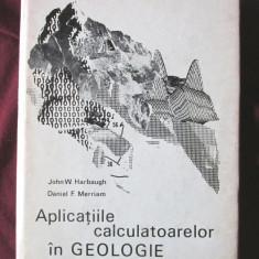 """""""APLICATIILE CALCULATOARELOR IN GEOLOGIE"""", J. W. Harbaugh / D. F. Merriam, 1972, Alta editura"""