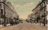 BUCURESTI , BULEVARDUL  ELISABETA , TRASURI , CIRC.  1908, Circulata, Printata