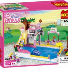 MEGA JOC DE CONSTRUCTIE TIP LEGO DE LA COGO, PISCINA DISTRACTIVA 302 PIESE. - Set de constructie