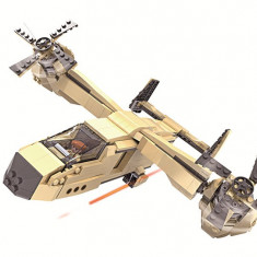 JOC DE CONSTRUCTIE DIN PIESE TIP LEGO,COMPATIBILE 100%,AVION MILITAR IN ACTIUNE.