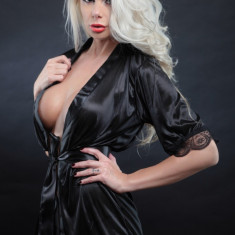 Lenjerie Lady Lust Sexy Dantela Babydoll Halat Pijama Intima Kimono Roba Noapte, Alb, Mov, One size
