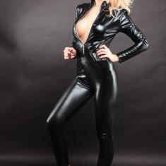 Lenjerie Lady Lust Sexy 306 Catsuit Jumpsuit Cat Woman Vinil Piele PU Masca - Lenjerie sexy femei