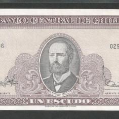 CHILE 1 ESCUDO 1964, Litera O [1] XF++, P-136a.1 - bancnota america, An: 1962