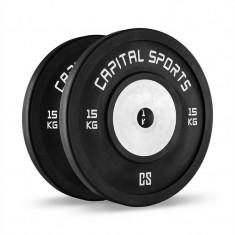 CAPITAL SPORT Inval Hi Competition greutati de 50 mm de cauciuc cu miez de aluminiu 2 x 15 kg