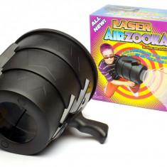 Airzooka tun cu aer si tinta laser