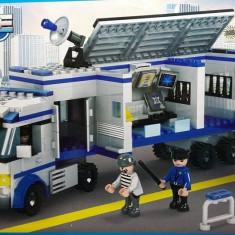 JOC DE CONSTRUCTIE DIN PIESE TIP LEGO, COMPATIBILE 100%, POLITIA IN ACTIUNE. - Set de constructie, Unisex