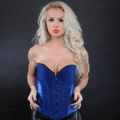 Lenjerie Lady Lust Sexy 200 Babydoll Corset Broderie Burlesque Rosu Bikini Over, Marime: Alta, Culoare: Albastru