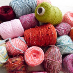 Fire efect amestec - Fir tricotat si crosetat