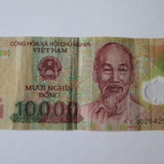 Vietnam 10 000 dong 2008 polymer - bancnota asia