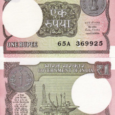 INDIA 1 rupee 2016 UNC!!! - bancnota asia