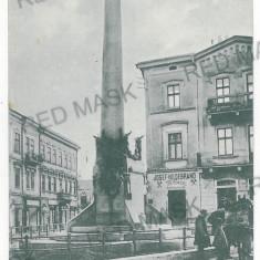 1374 - Bucovina, CERNAUTI, statue - old postcard, CENSOR - used - 1917 - Carte Postala Bucovina 1904-1918, Circulata, Printata