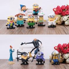Figurine Minioni Jucarii Galbene 8 Bucati/Set Minions 2016 COPII CALITATE - Figurina Desene animate, Unisex