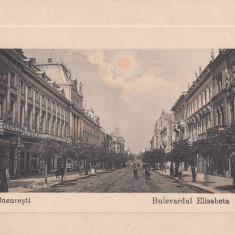 BUCURESTI BULEVARDUL ELISABETA DROGUERIA MEDICINALA MAGAZIN MOBILA - Carte Postala Muntenia 1904-1918, Necirculata, Printata