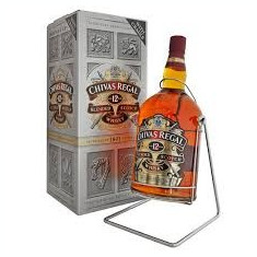 Chivas regal with cradle, aged 12 years 4, 5 litre, blended scotch whisky