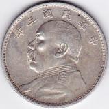 China Dollar Yuan (1914) argint 26,4 gr 890/1000 Yuan Shih kai, Asia