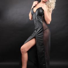 Lenjerie Lady Lust Sexy 211 Arab Cadana Dansatoare Piele Eco Costum Dans Gothic - Lenjerie sexy femei, Marime: M/L, Culoare: Negru