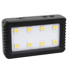 JJC LED8 Lampa foto-video 8 LEDuri SMD pentru smartphone, mirrorless sau DSLR