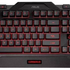 Tastatură Asus Cerberus negru USB Gamer
