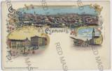 650 - CERNAUTI, Bucovina, Litho - old postcard - unused