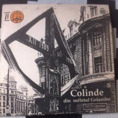 Colinde din sufletul golanilor II med quartet disc vinyl Muzica Folk electrecord 1991 lp, VINIL
