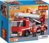 JOC CONSTRUCTIE TIP LEGO ,PIESE COMPATIBILE 100%,MASINA DE POMPIERI IN ACTIUNE., Unisex