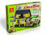 JOC DE CONSTRUCTIE DIN PIESE TIP LEGO COMPATIBILE 100%,LEGO VILLAS,449 PIESE., Unisex