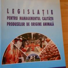 MIHAI DECUN--LEGISLATIE PENTRU MANAGEMENTUL CALITATII PRODUSELOR DE ORIG ANIMALA