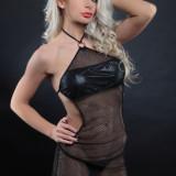 Lenjerie Lady Lust Sexy 183 Babydoll Rochita Dantela Gaurele Mesh Chiloti Piele, Negru, M