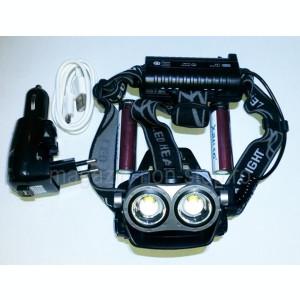 Lanterna Frontala 2 x XM-L T6 Acumulatori 18650 Si Functie De Semnalizare