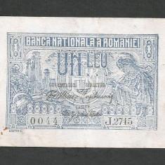 ROMANIA 1 LEU 1915 [1] VF - Bancnota romaneasca