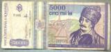 A1475 BANCNOTA-ROMANIA- 5000 LEI-1993-SERIA 0015-AVRAM IANCU-starea care se vede