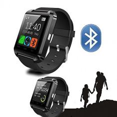 Smartwatch Ceas Inteligent U8 NOU la CUTIE, Negru, Bluetooth, Compatibil Android, Alte materiale, Android Wear