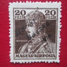 TIMBRE ROMANIA UNGARIA OCUPATIE BANAT 1919 NEUZAT, Nestampilat