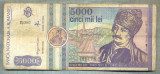 A1496 BANCNOTA-ROMANIA- 5000 LEI-1992-SERIA 0002-AVRAM IANCU-starea care se vede