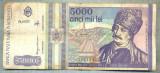 A1499 BANCNOTA-ROMANIA- 5000 LEI-1993-SERIA 0002-AVRAM IANCU-starea care se vede