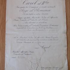 ROMANIA-ORDINUL COROANA ROMANIEI -DECRET DE NUMIRE IN GRADUL DE CAVALER, 1932