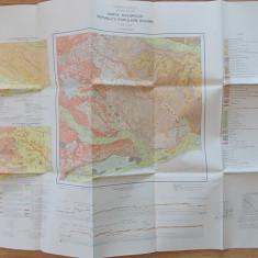 HARTA SOLURILOR RPR- BUCURESTI- INSTITUTUL GEOLOGIC, 1:200.000
