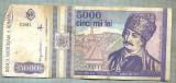 A1482 BANCNOTA-ROMANIA- 5000 LEI-1993-SERIA 0011-AVRAM IANCU-starea care se vede