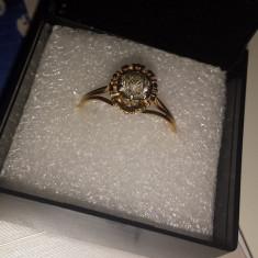 Minunat inel vechi anii 1930 din aur de 18 k cu briliant de 0, 65 ct - Inel diamant, Culoare: Alb