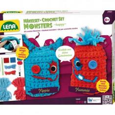 Set Crosetat Doi Monstruleti De Lana - Jocuri arta si creatie Lena