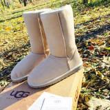 Cizme Ugg Australia Autentice Clasic Tall Albe inalte impermeabile  Noi  39 40