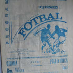 Chimia Rm. Valcea - Politehnica Iasi (23septembrie 1979) - Program meci